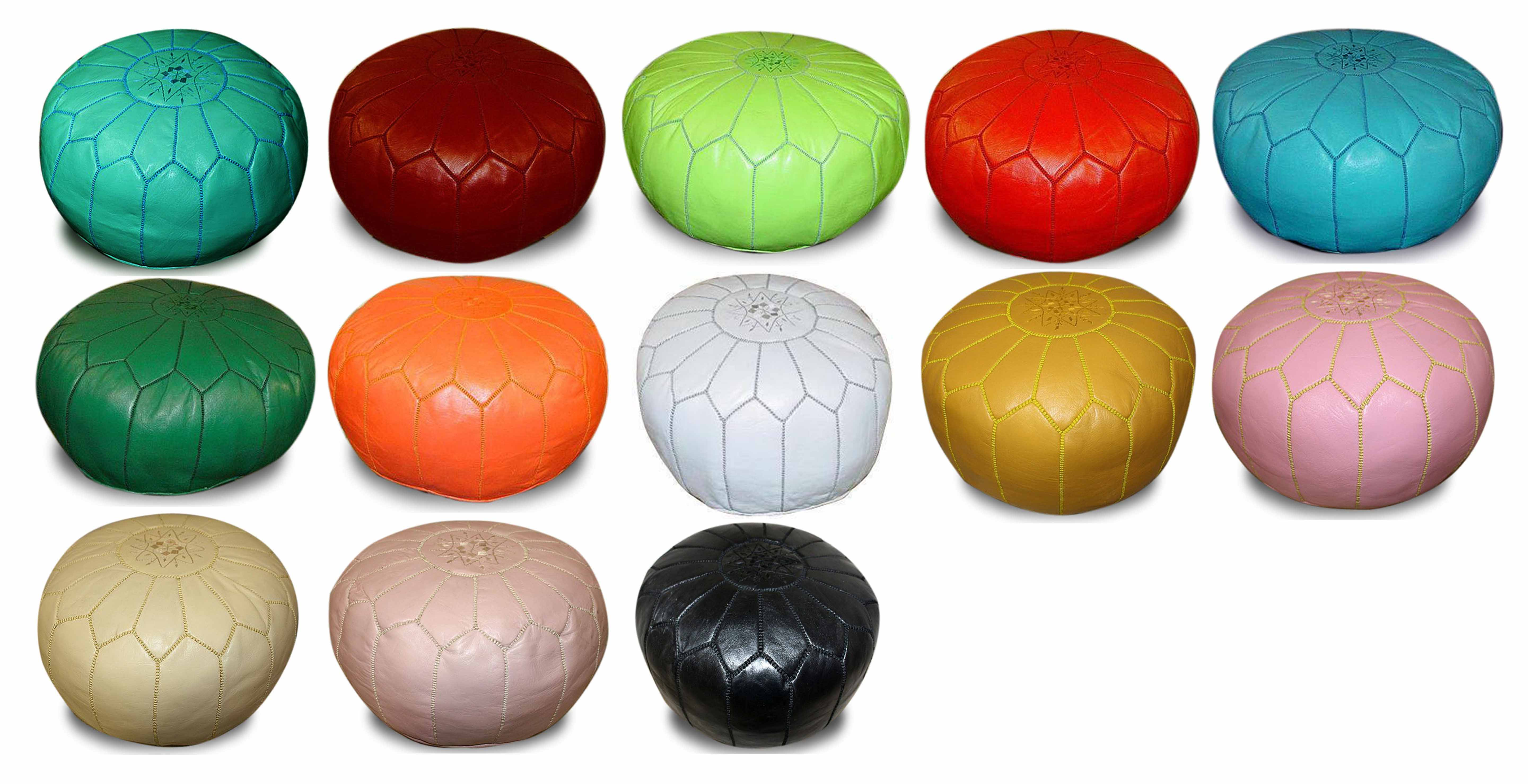 Moroccan round leather ottoman, Moroccan leather ottoman, Moroccan leather pouf, leather ottoman, leather pouf, ottoman, pouf, Moroccan pouf Los Angeles, Moroccan ottoman Los Angeles, round leather pouf, round leather ottoman, leather pouf ottoman