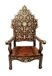 Moroccan White Mother of Pearl Chair