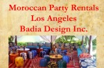Moroccan Party Rentals Los Angeles