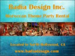 Moroccan Theme Party Rental Los Angeles