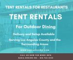 Tent Rentals for Restaurants and OutdoorDining
